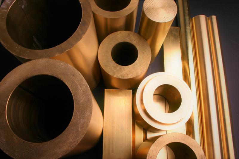 Tarugo de bronze quadrado